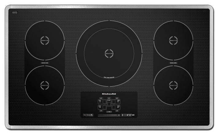 KitchenAid 36'' Electric Induction Cooktop – KICU569XSS - Electric Cooktop in Stainless Steel/Black