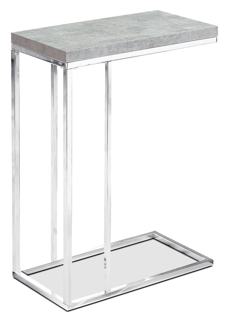Banda Accent Table - Modern style End Table in Light Grey Metal