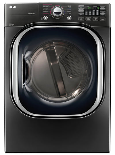 LG 7.4 Cu. Ft. Electric Dryer with TurboSteam™ – DLEX4370K - Dryer in Grey