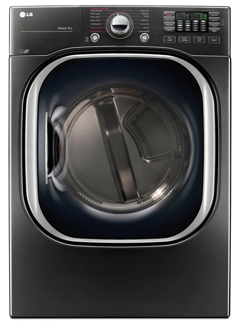LG 7.4 Cu. Ft. Electric Dryer with TurboSteam™ – DLEX4370K|Sécheuse électrique LG de 7,4 pi³ avec technologie TurboSteamMC - DLEX4370K