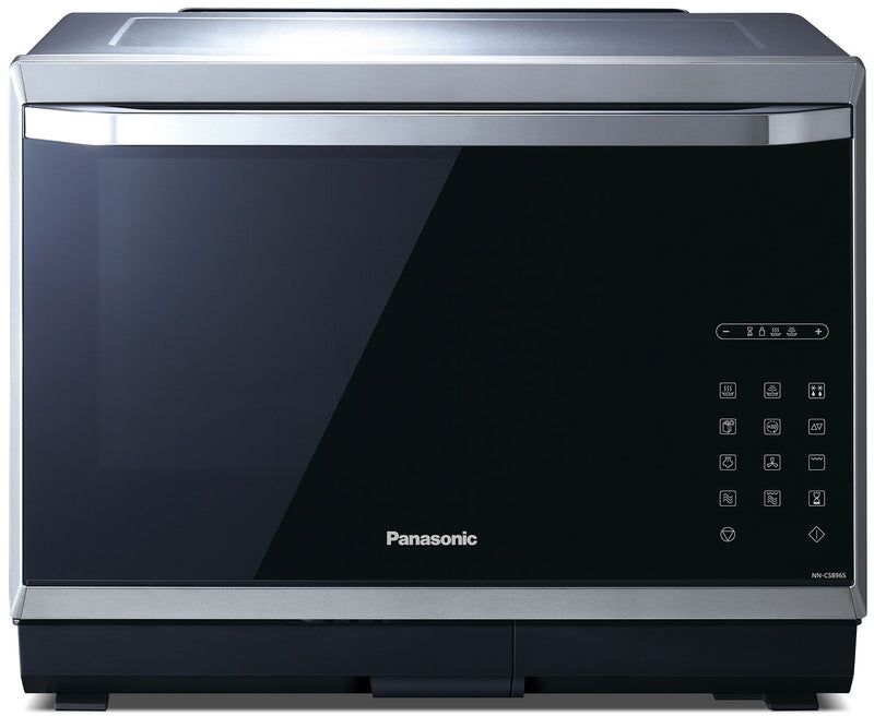 Panasonic 1.2 Cu. Ft. Steam Convection Countertop Microwave – NNCS896S|Four à micro-ondes de comptoir Panasonic de 1,2 pi3 avec convection à la vapeur – NNCS896S