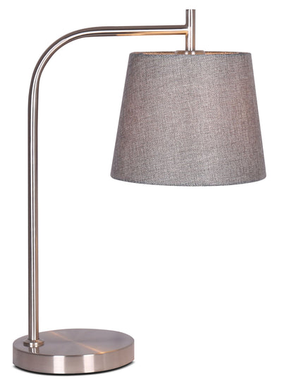 Kaitlyn Brushed Steel Table Lamp|Lampe de table Kaitlyn en acier brossé|LL1495TL