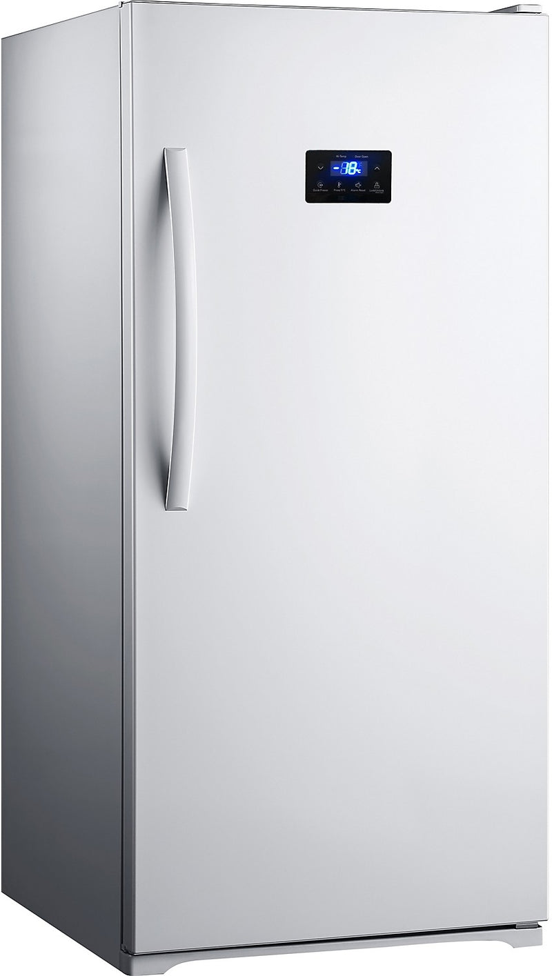Midea 174 13 8 Cu Ft No Frost Upright Freezer White The