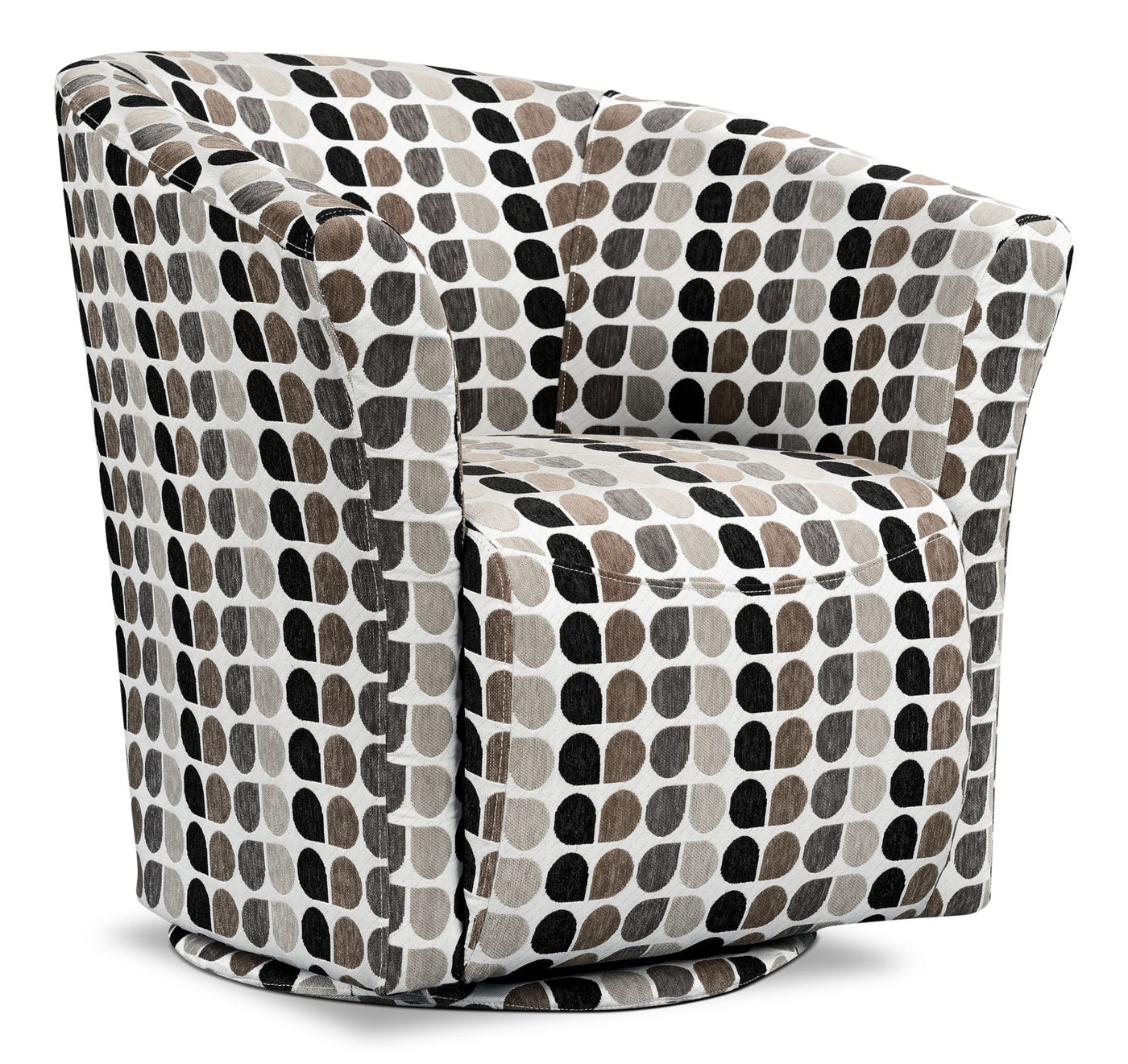 Tub Style Fabric Swivel Accent Chair Steel The Brick