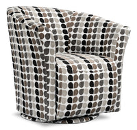 Tub-Style Fabric Swivel Accent Chair - Steel