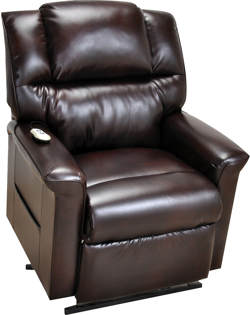 Bonded Leather 3-Position Power Lift Recliner - Brown|Fauteuil à inclinaison électrique 3 positions en cuir contrecollé - brun|480-LP