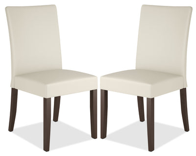 Atwood Faux Leather Dining Chair, Set of 2 – Cream