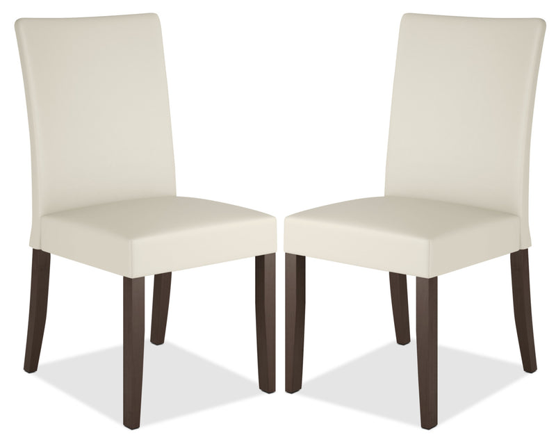 Atwood Faux Leather Dining Chair, Set of 2 – Cream|Chaise de salle à manger Atwood en similicuir, ensemble de 2 - crème|DRC885CP