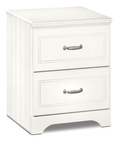 Lulu Nightstand - Country style Nightstand in White
