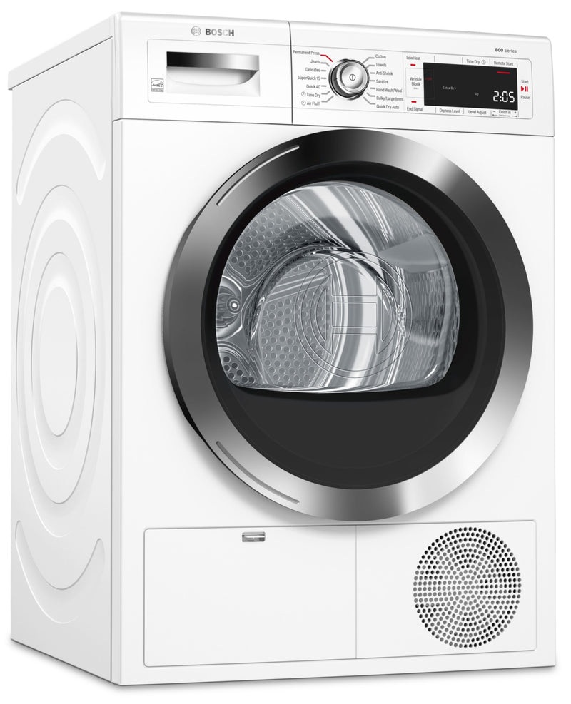 Bosch Home Connect 4.0 Cu. Ft. Ventless Compact 800 Series Dryer – WTG865H2UC|Sécheuse compacte sans évacuation d'air Bosch de série 800 de 4,0 pi3 avec application Home Connect - WTG865H2UC