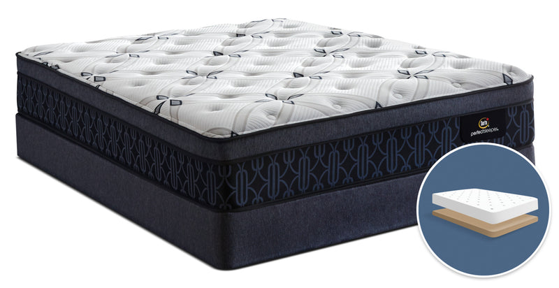 Serta Perfect Sleeper® Watson Firm Euro-Top Low-Profile Queen Mattress Set|Ensemble matelas ferme à Euro-plateau à profil bas Watson Perfect Sleeper de Serta pour grand lit