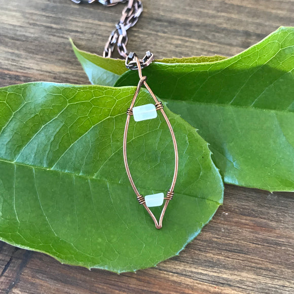 Double Leaf Necklace - Woodland Wraps