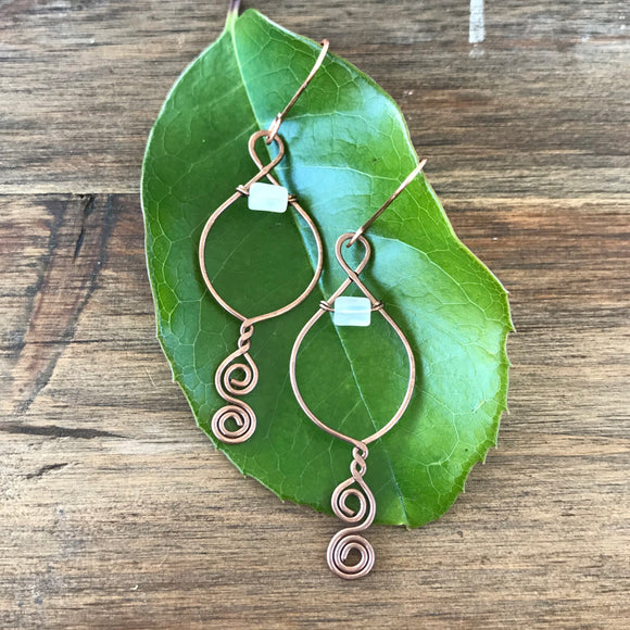 Spiral Leaf Earrings - Woodland Wraps