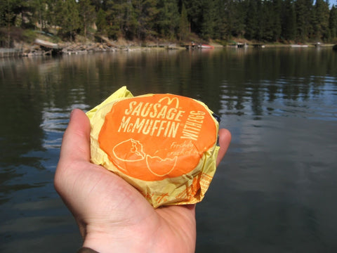 sausage egg mcmuffin for the win on the deschutes river