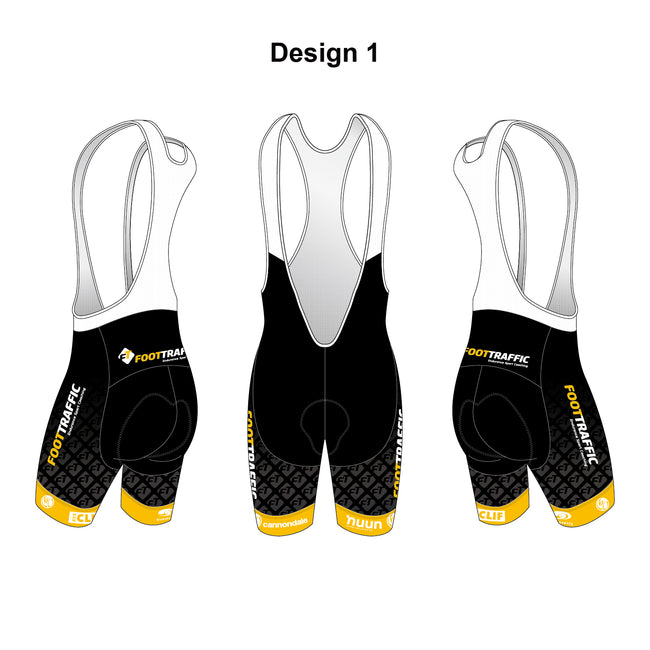 FOOTTRAFFIC Gold Men's Cycling Bib Shorts