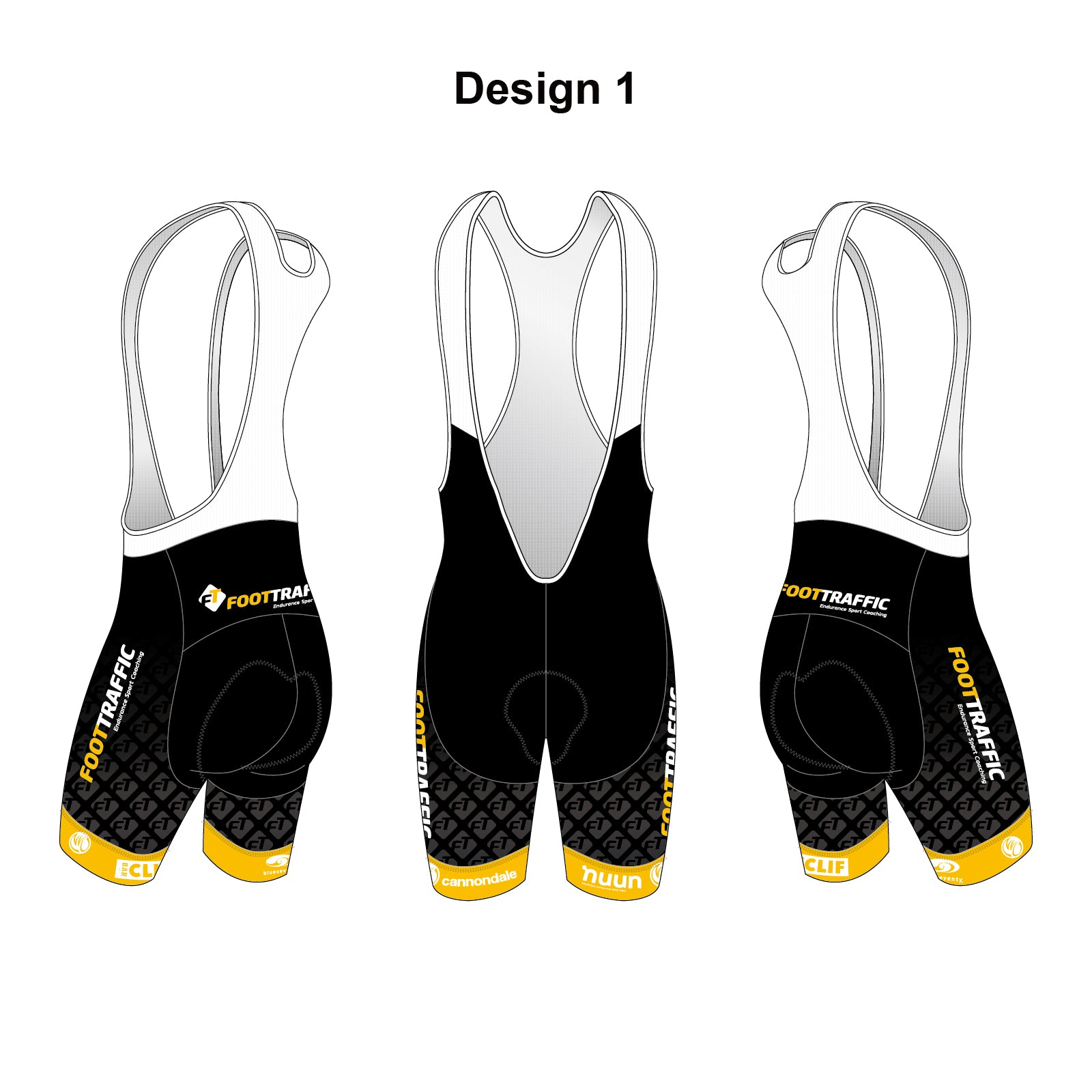 FOOTTRAFFIC Gold Women's Cycling Bib Shorts