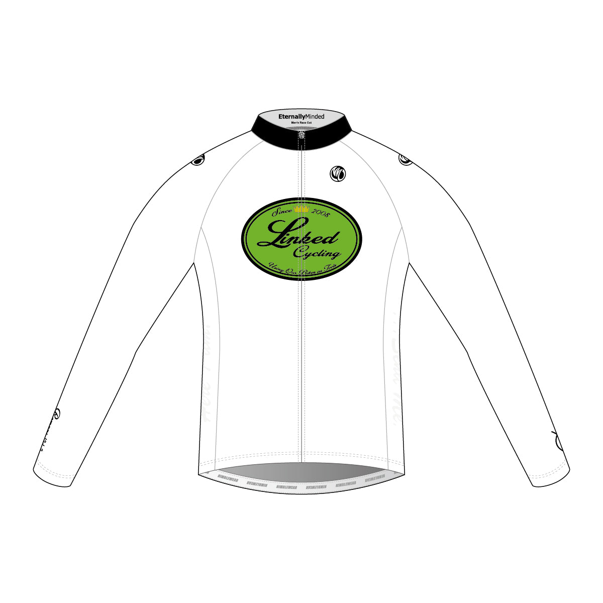 Linked Cycling Winter Jersey White