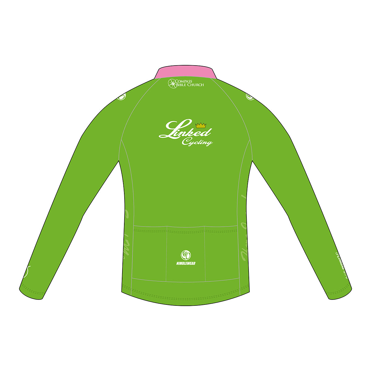 Linked Cycling Winter Jersey Pink, Women's Race Cut/Club Cut