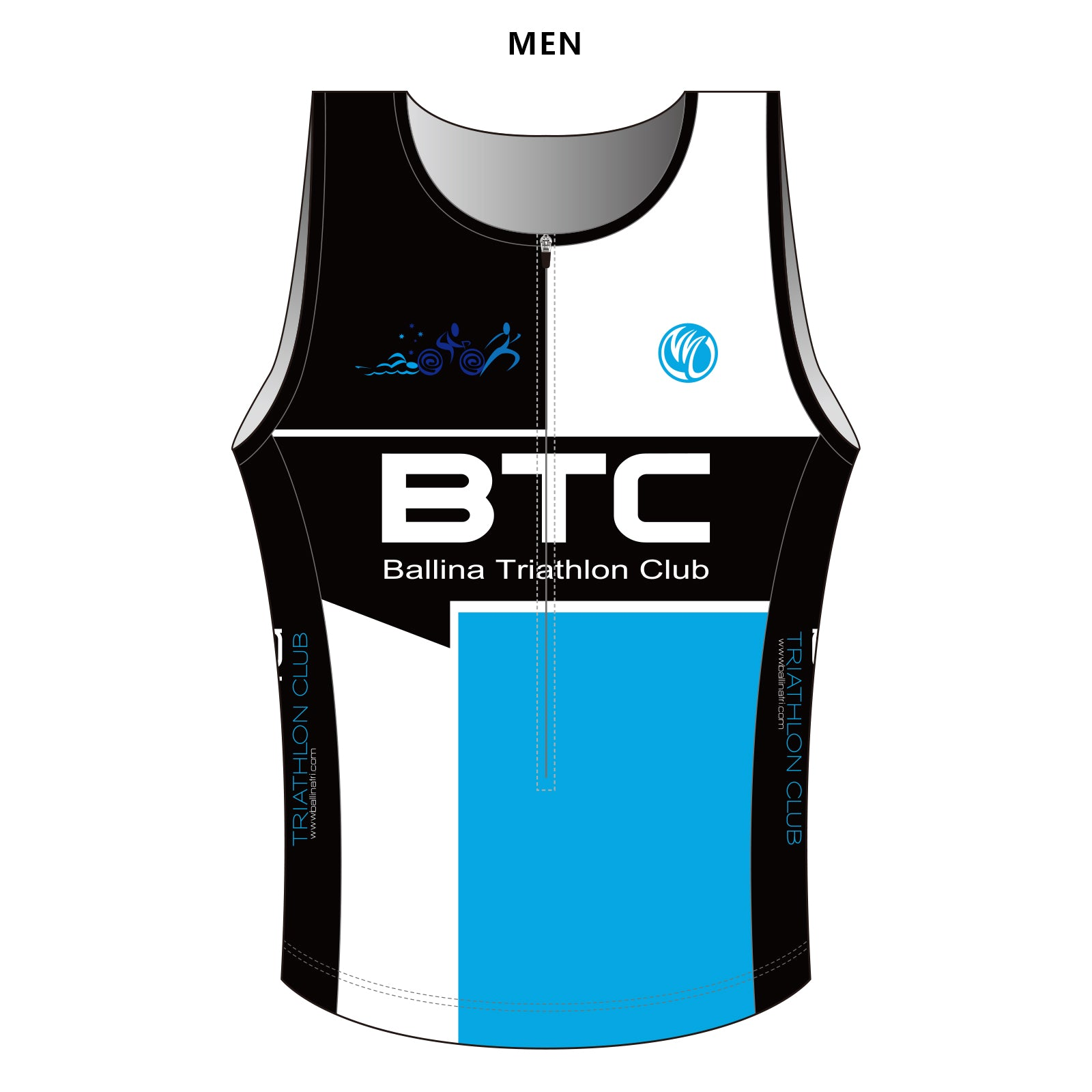 BTC DIAMOND Men's Tri Singlet, COLDBLACK