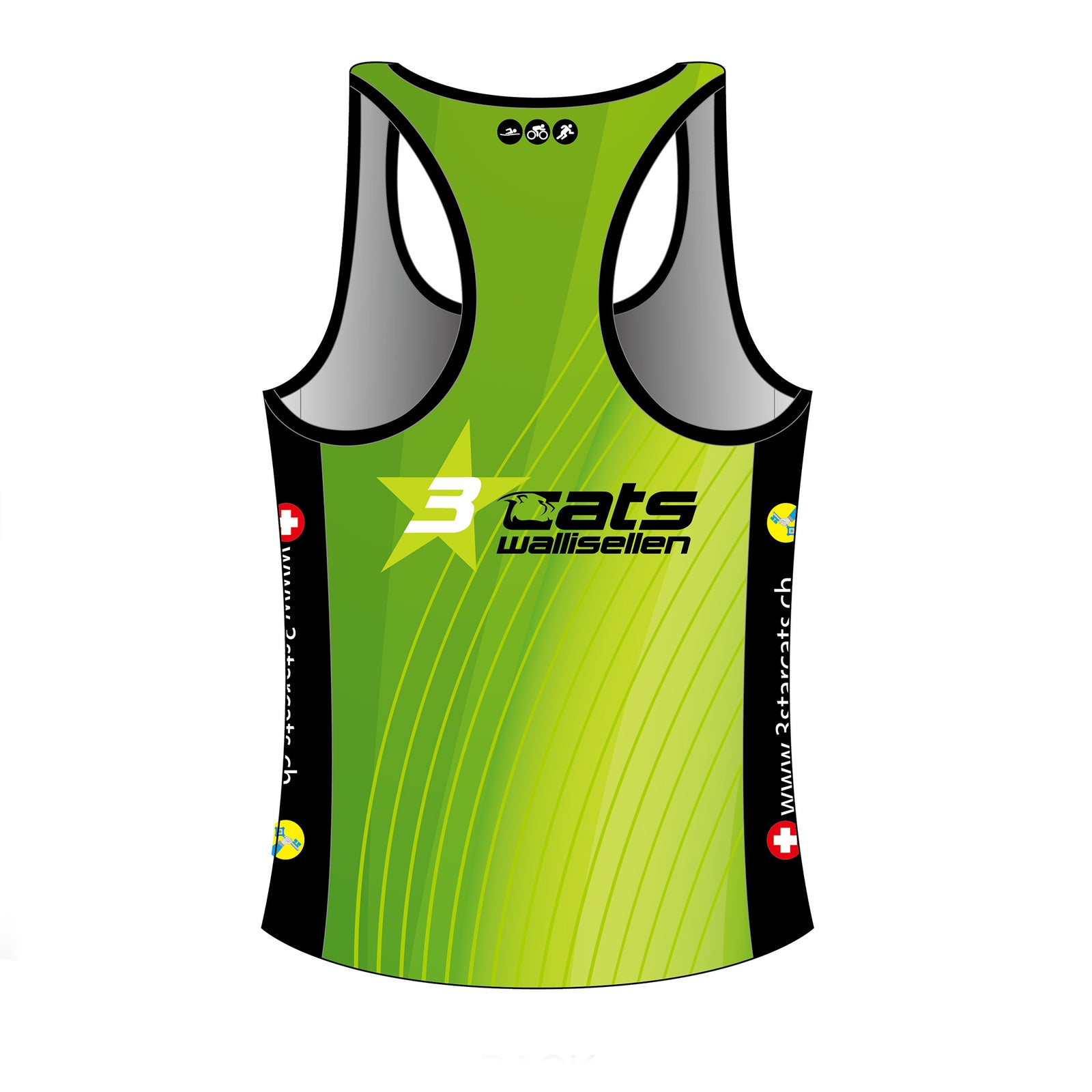 3star cats GOLD Running Singlet
