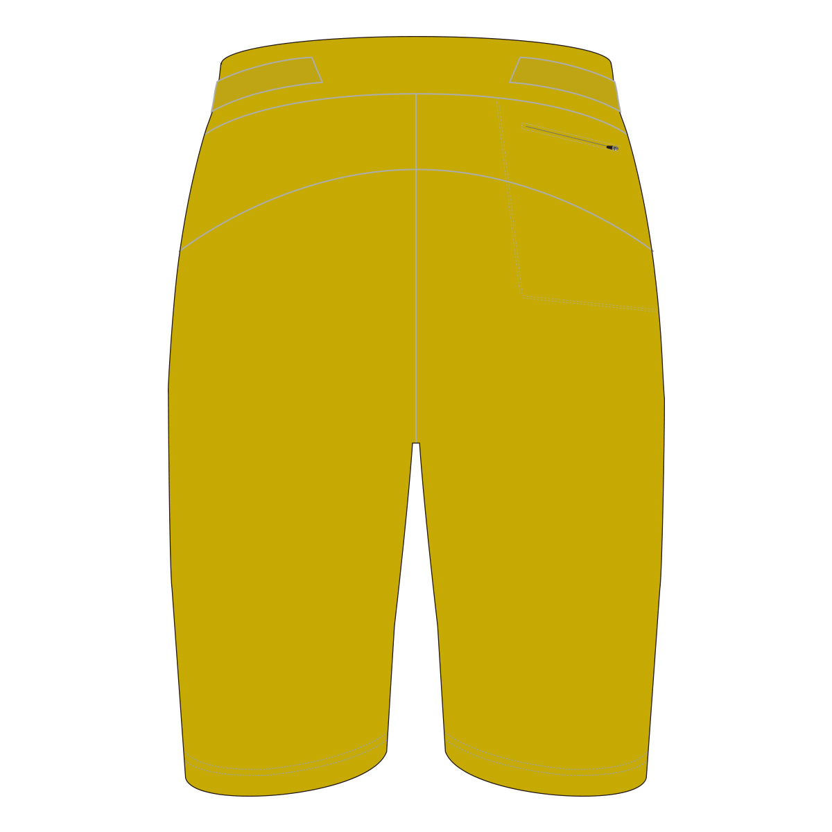 Linked Cycling Gold Baggy Shorts
