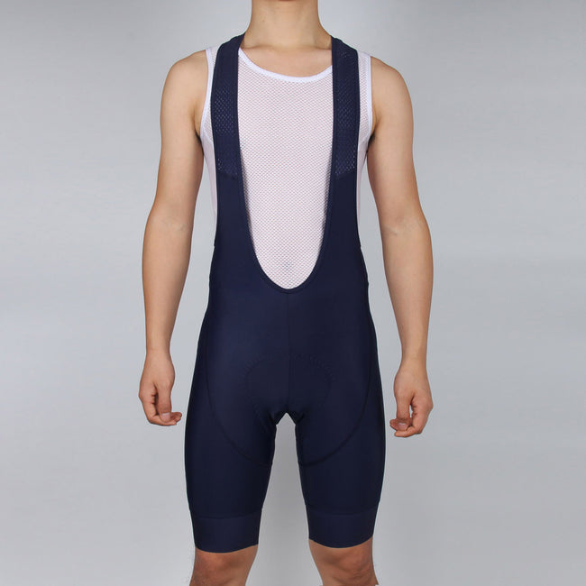 MEN Dark Navy Cycling Bib Shorts, with GLOSSY LOGO