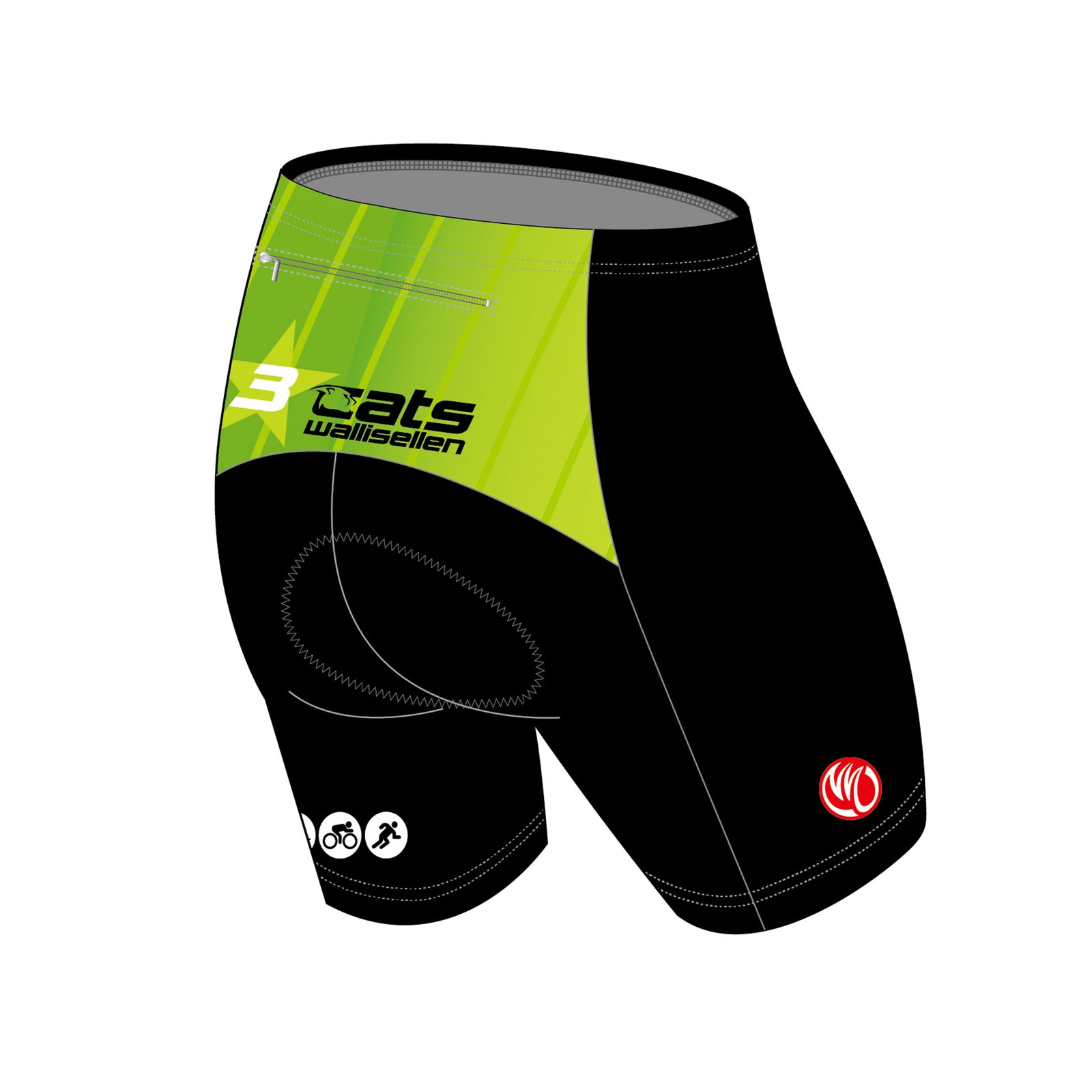 3star cats GOLD Compression Fit Running Shorts