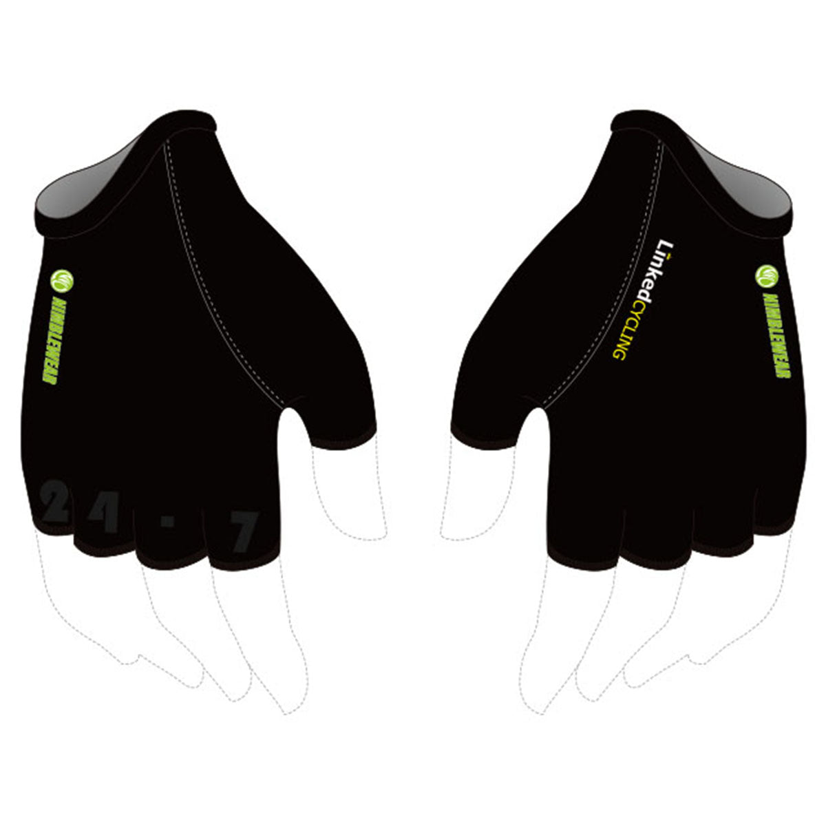 Linked Team Bronze Cycling Gloves