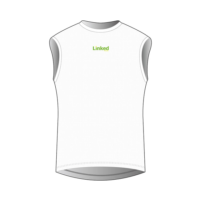 Linked Cycling Men's White Sleeveless Base Layer