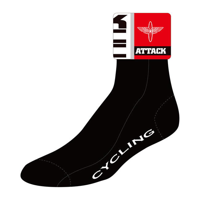 Kilkenny SILVER Cycling Socks, Track Attack Design