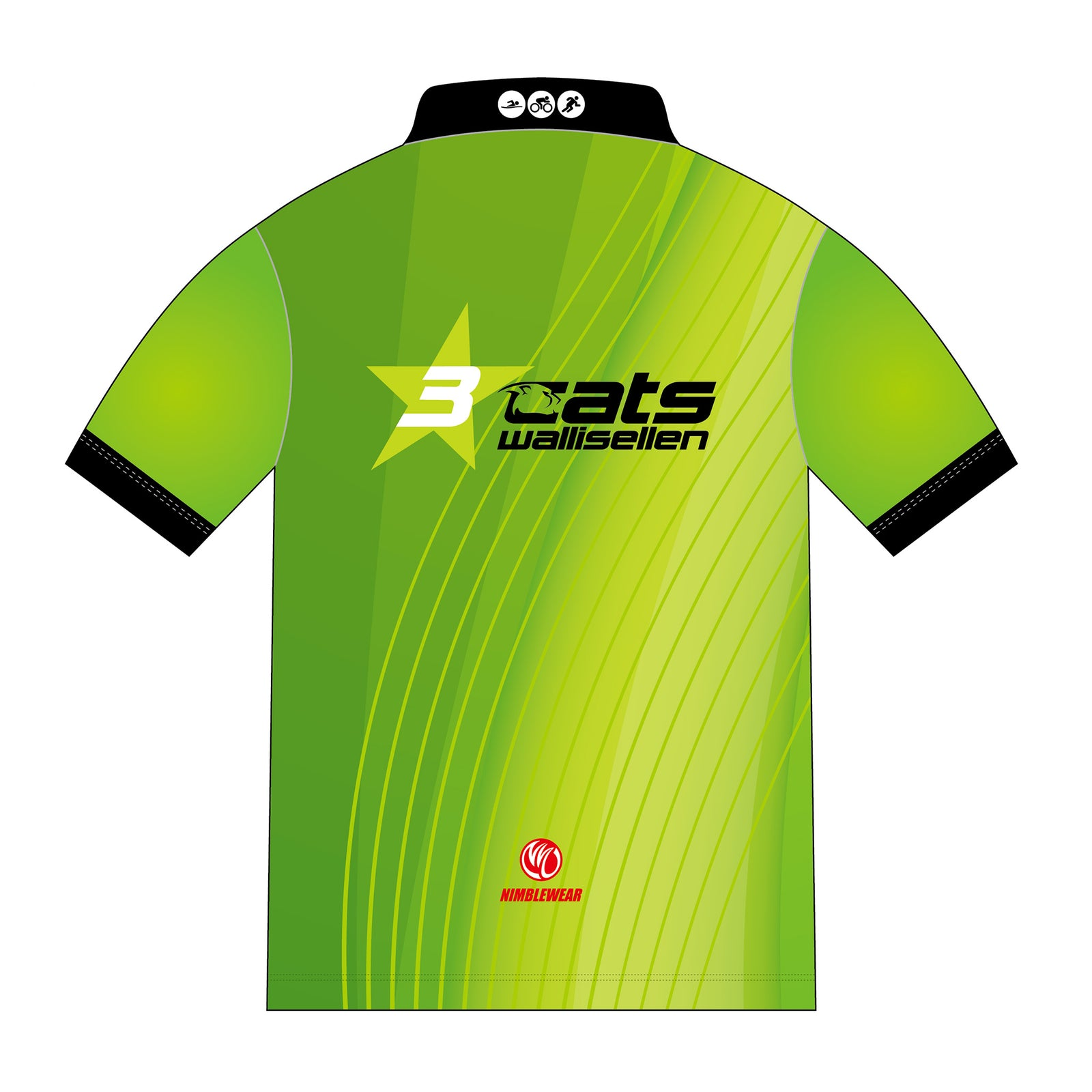 3star cats GREEN GOLD Polo Shirt