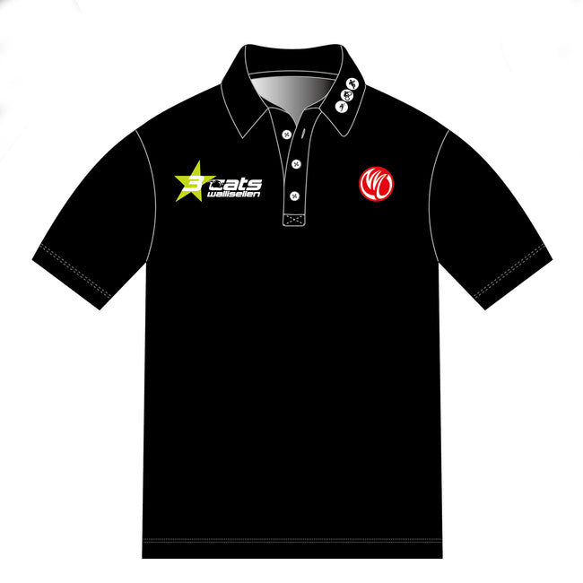 3star cats BLACK GOLD Polo Shirt