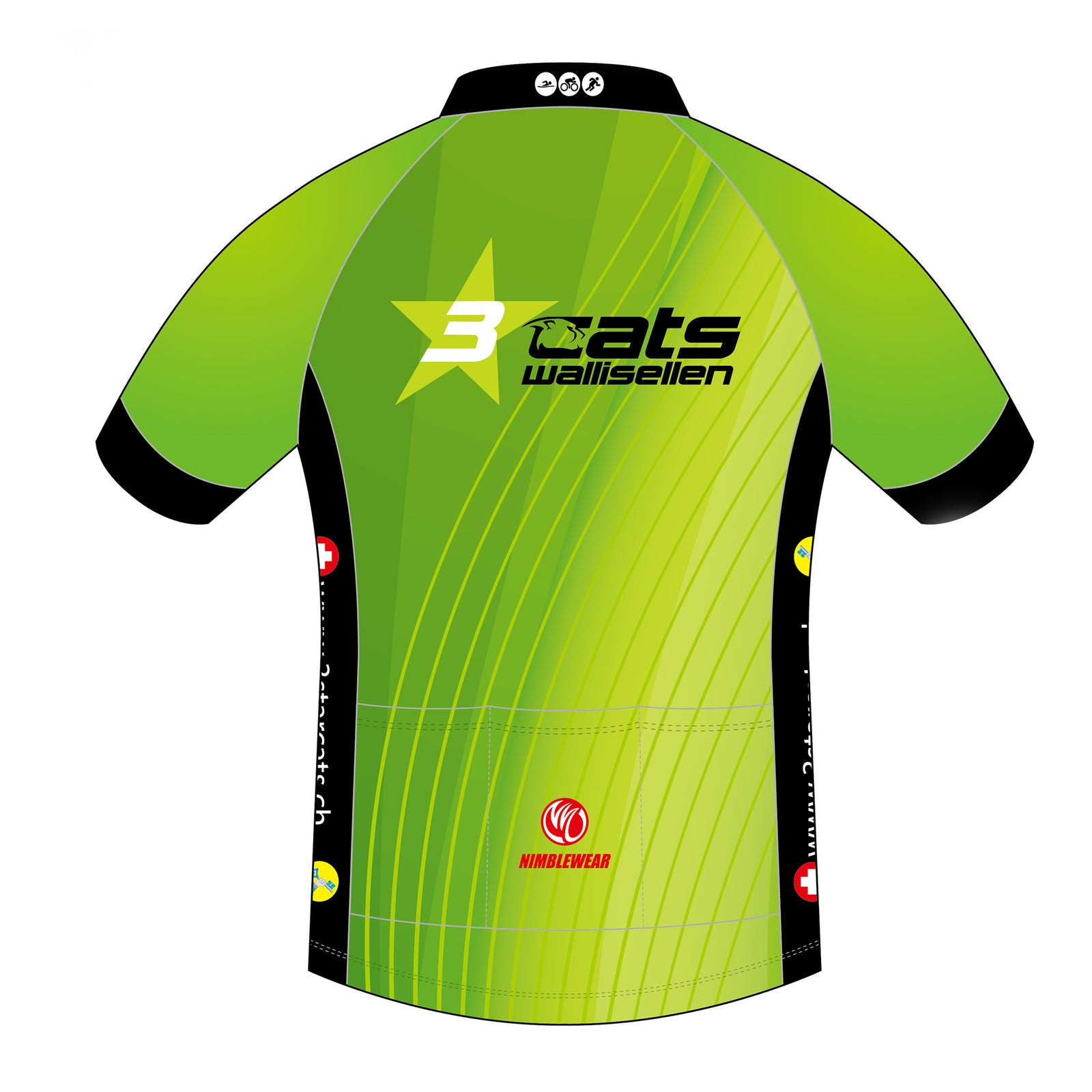 3star cats BRONZE SS Cycling Jersey