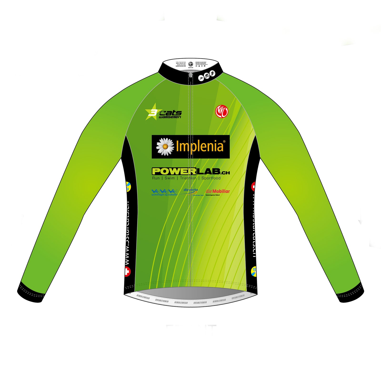 3star cats GOLD LS Cycling Jersey