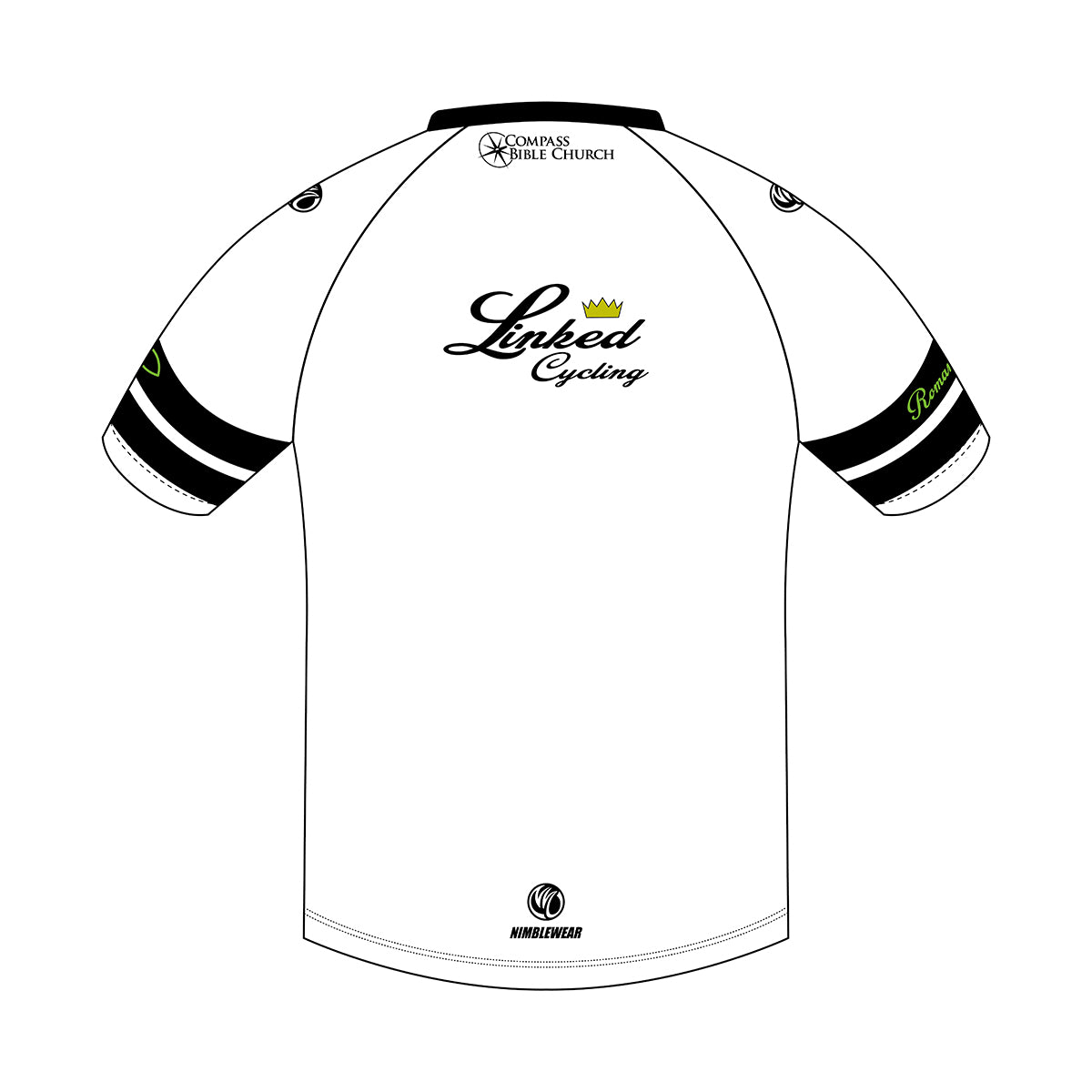Linked Cycling Tech Tee White