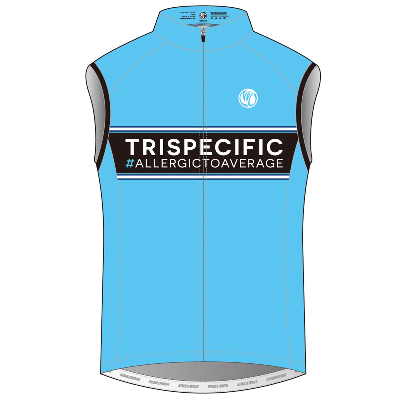 TRISPECIFIC SILVER Cycling Wind Vest