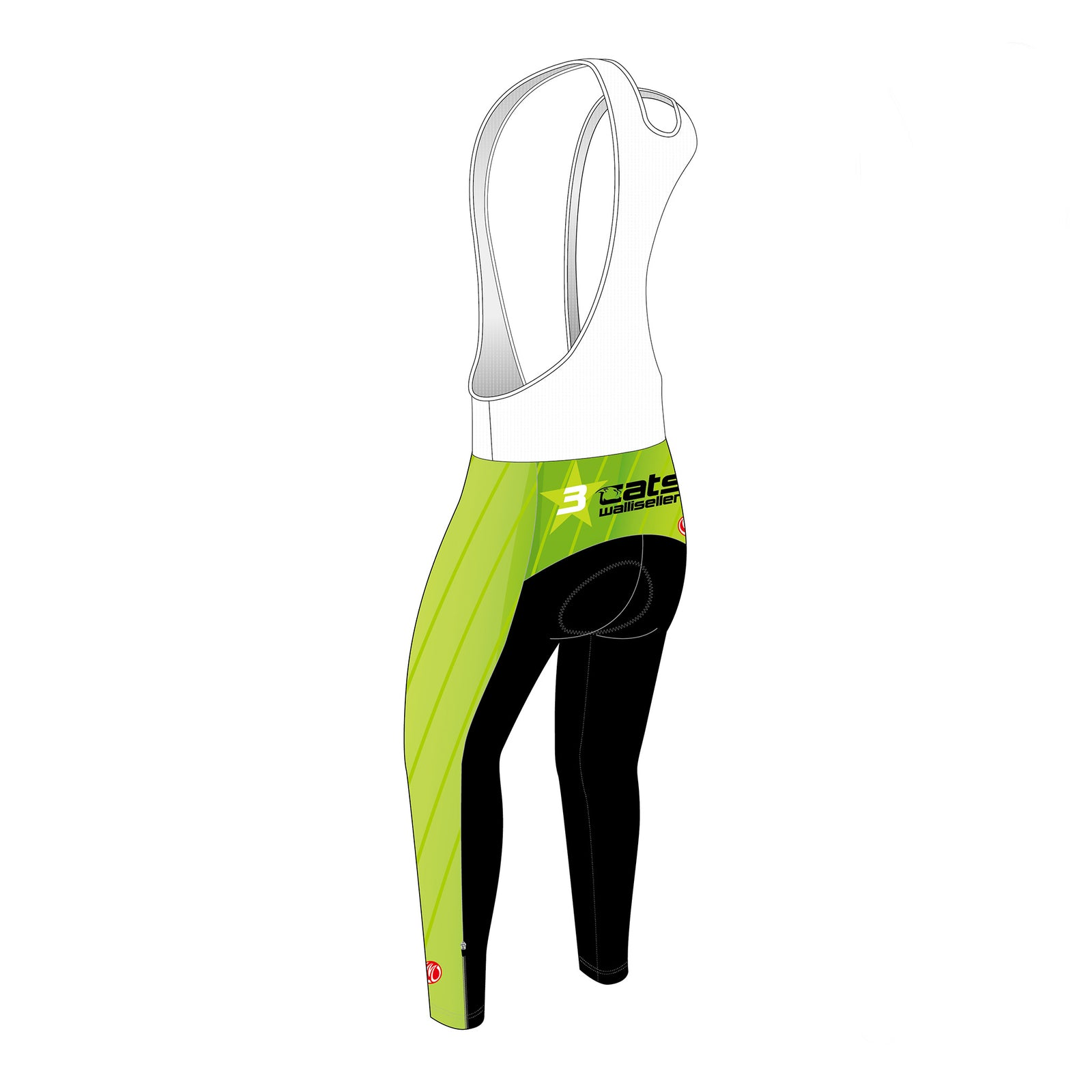 3star cats GOLD Thermal Cyling Bib Tights