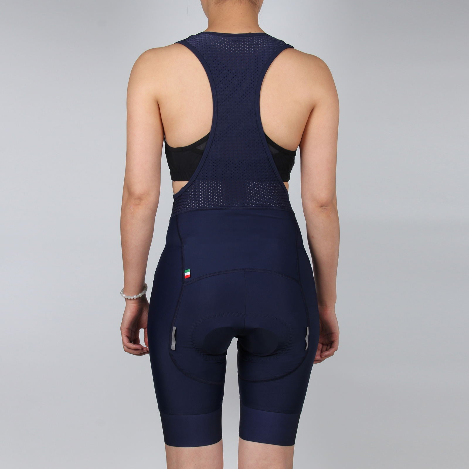 WOMEN Dark Navy Cycling Bib Shorts, with GLOSSY LOGO