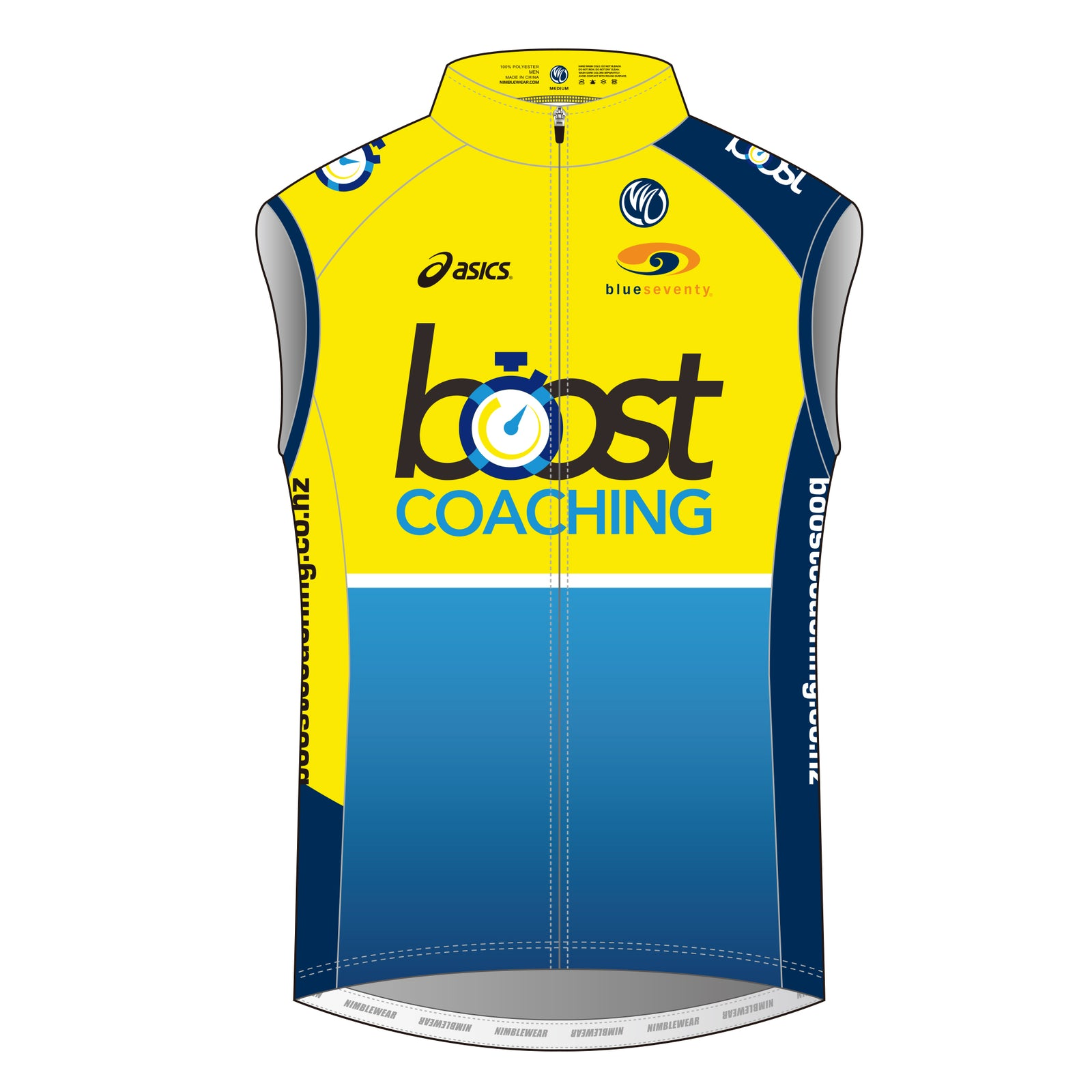 Boost Coaching Silver Cycling Wind Vest