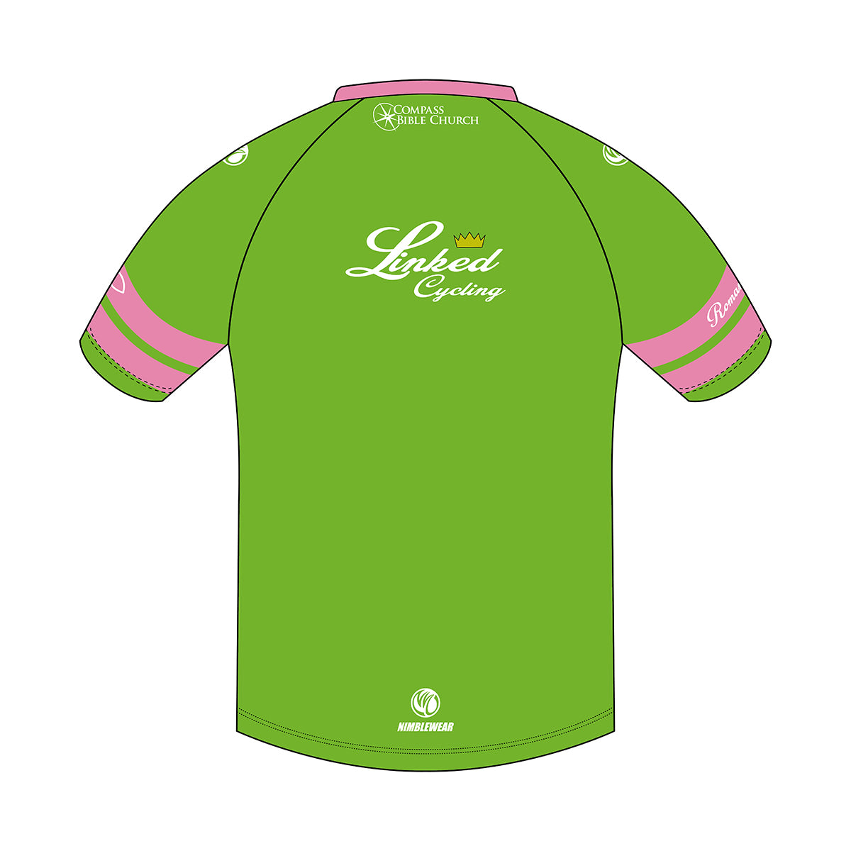 Linked Cycling Tech Tee Pink