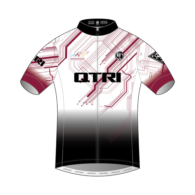 QTRI Short Sleeve Cycling Jersey (Men Club Cut, DIAMOND)