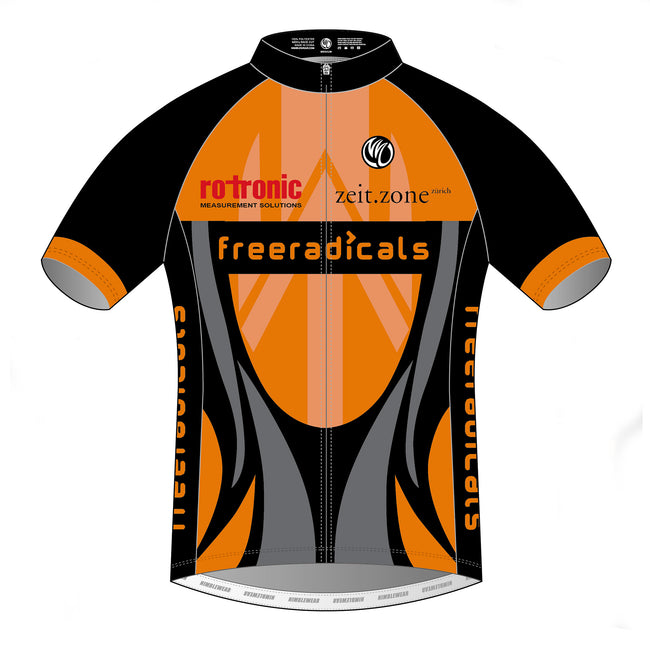 Freeradicals Silver SS Cycling Jersey