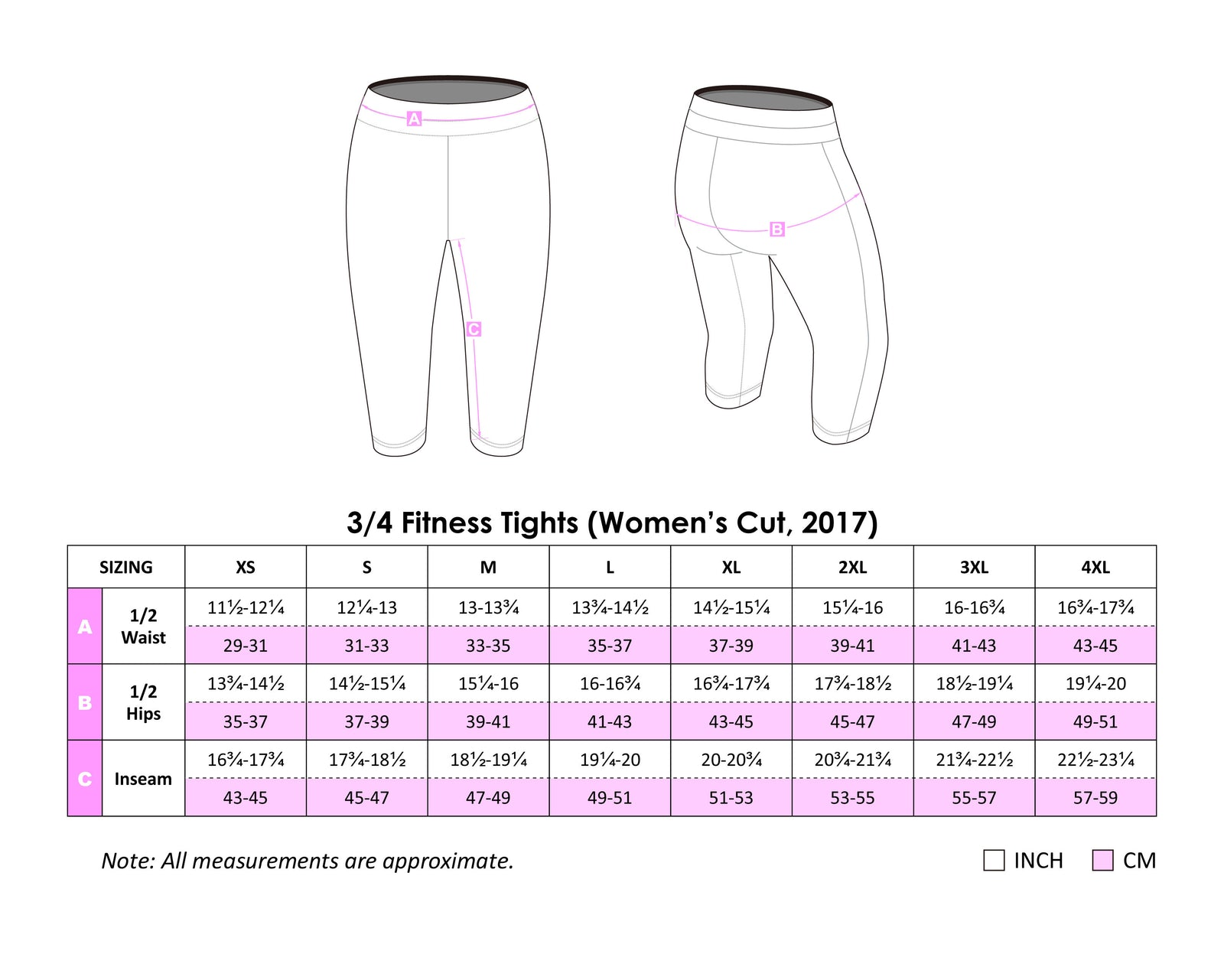 RFDS WOMEN SILVER 3/4 Fitness Tights