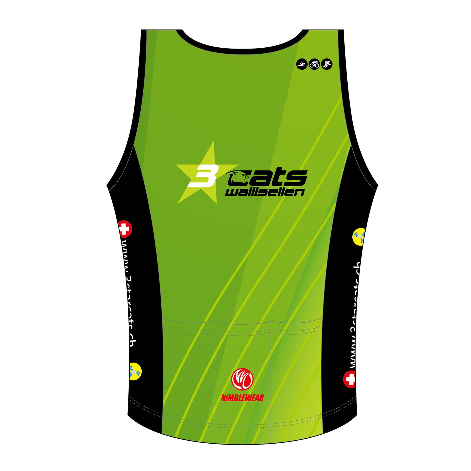 3star cats GOLD Tri Singlet