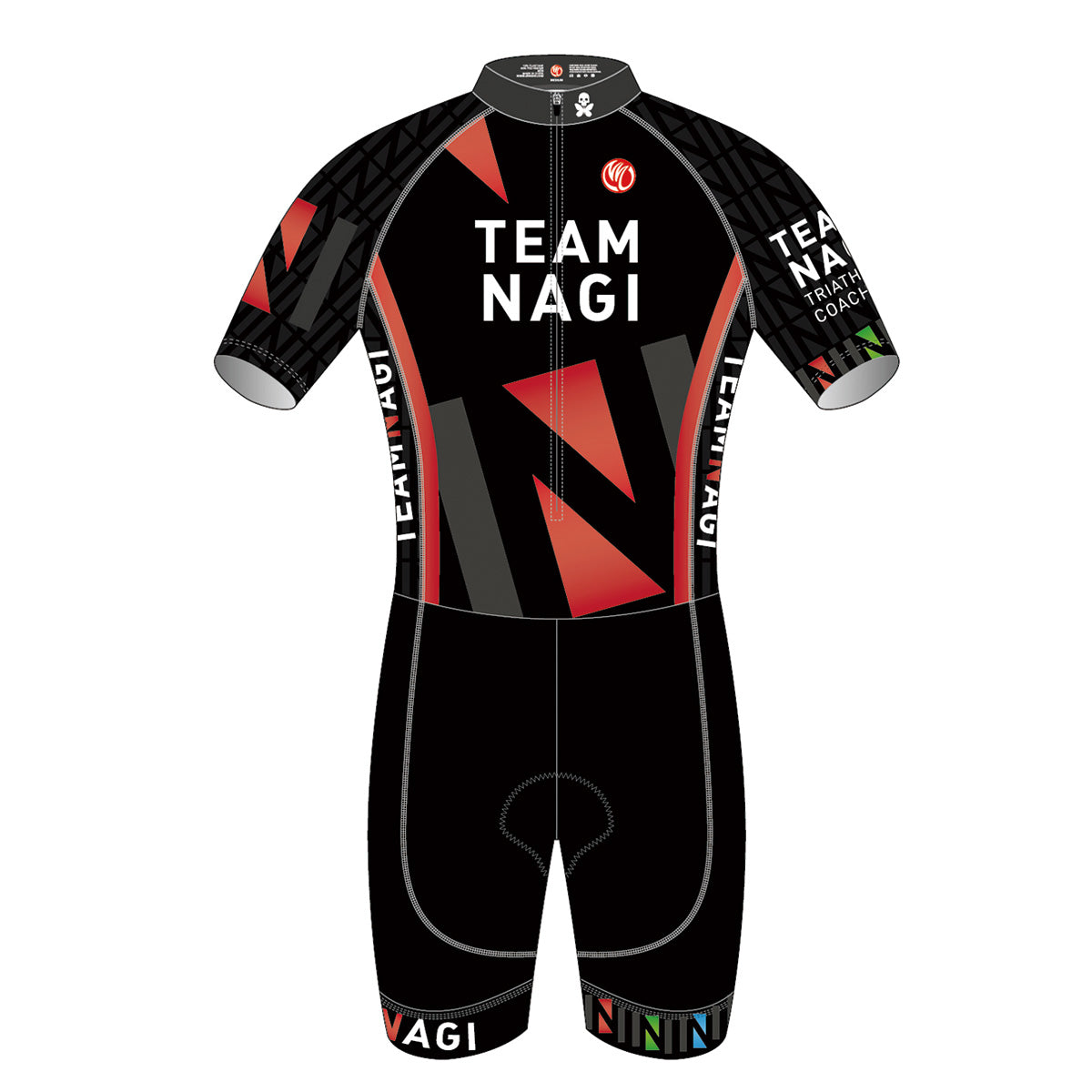 Team Nagi BLACK GOLD SS Cycling Skinsuit