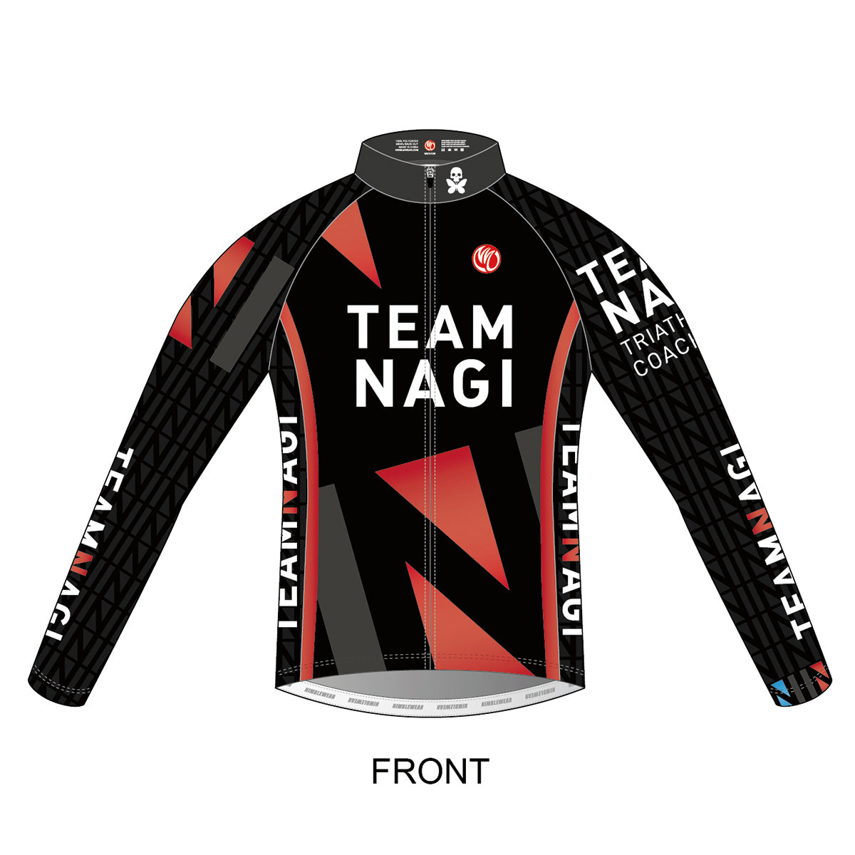 Team Nagi BLACK SILVER Summer Wind Jacket