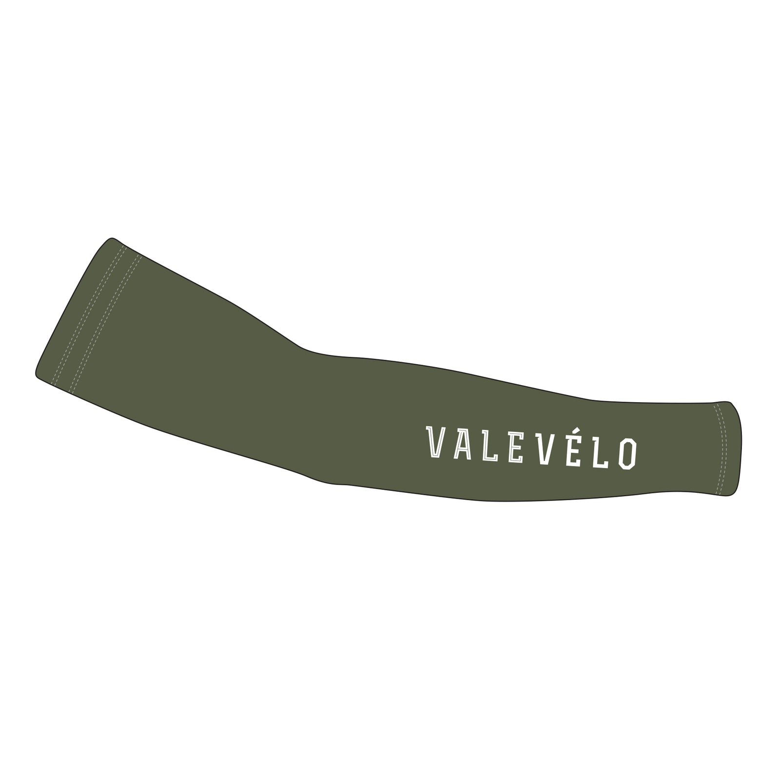 VALEVELO UNISEX SILVER Thermal Cycling Arm Warmers, ARMY GREEN