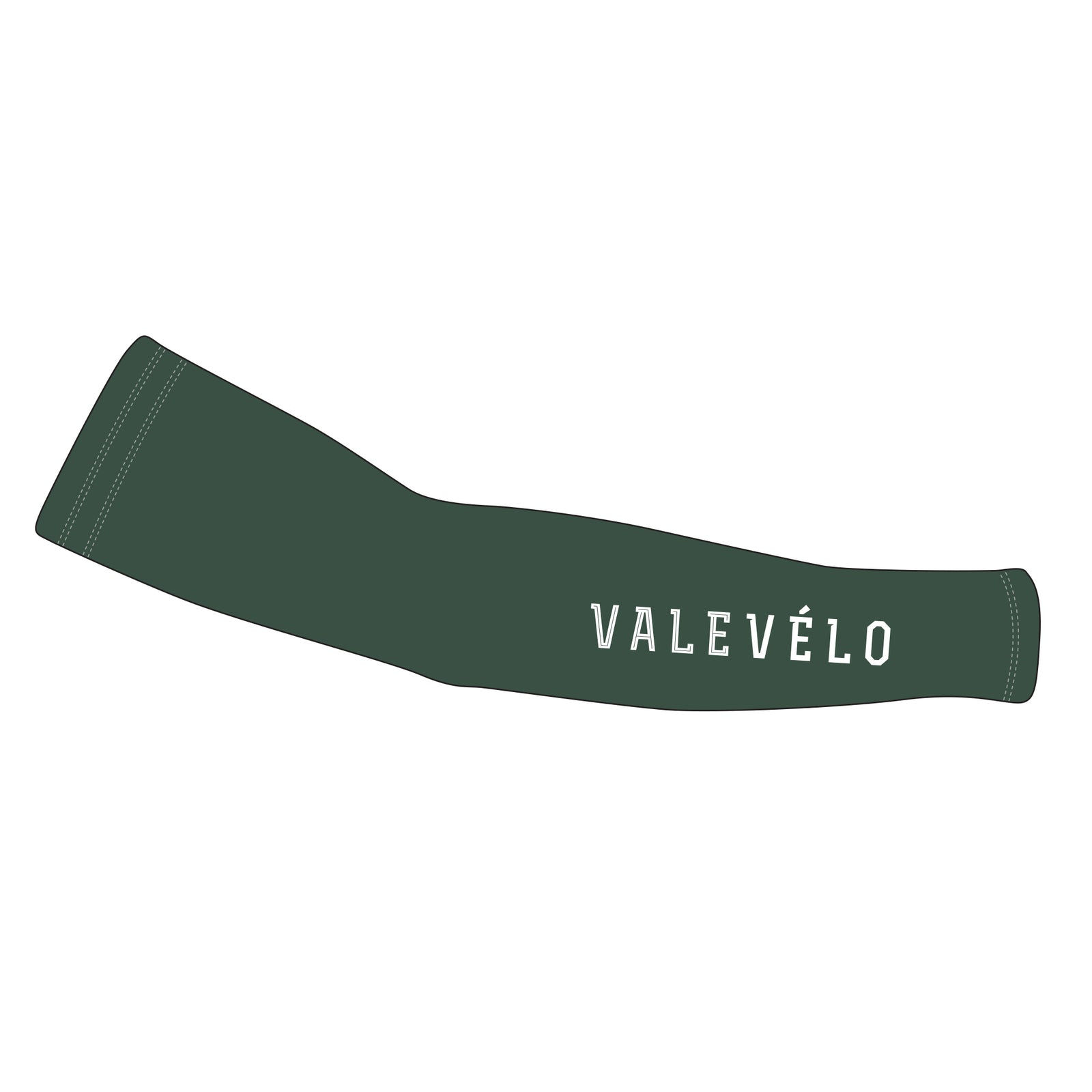 VALEVELO UNISEX SILVER Thermal Cycling Arm Warmers, DARK GREEN