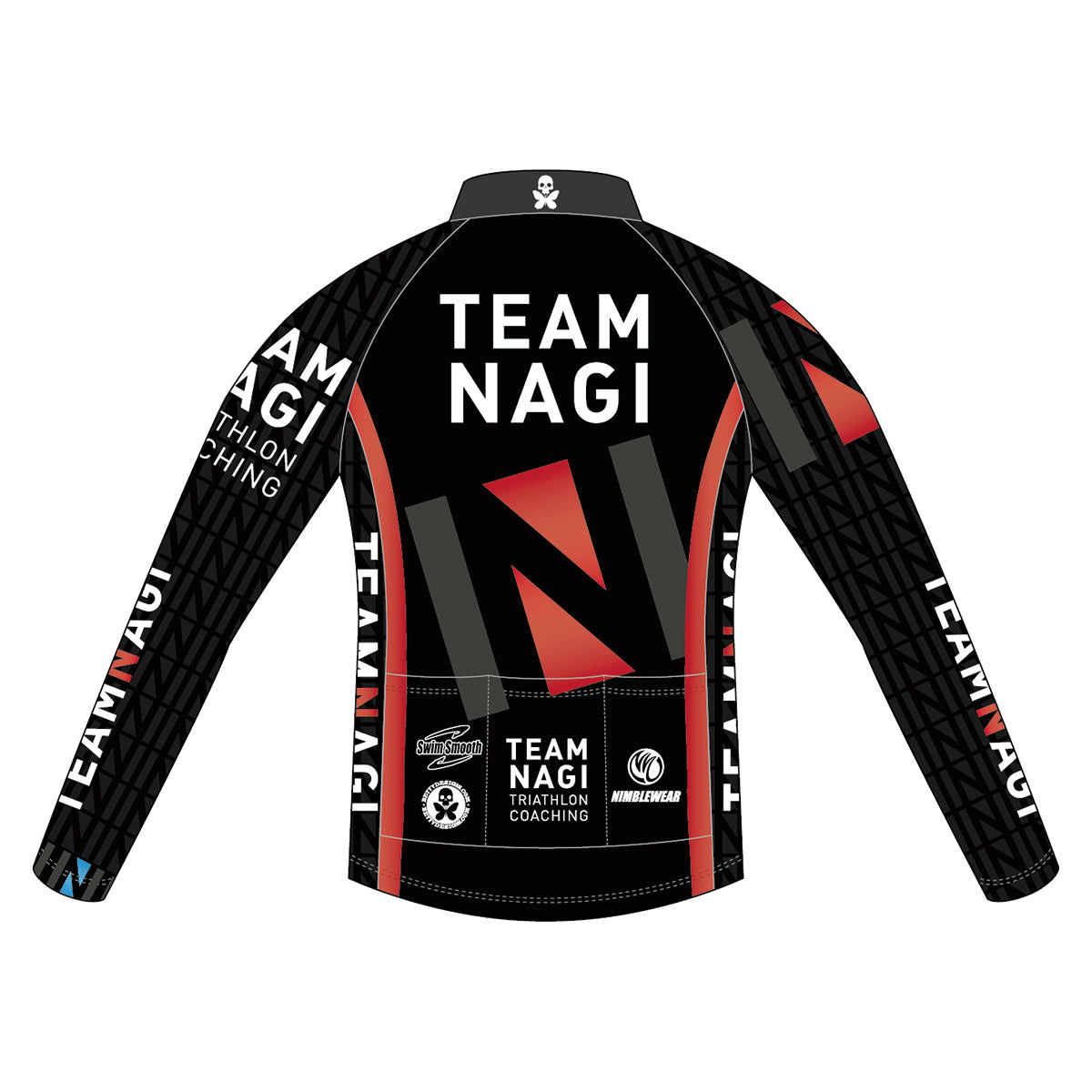 Team Nagi BLACK SILVER Thermal Wind Jacket