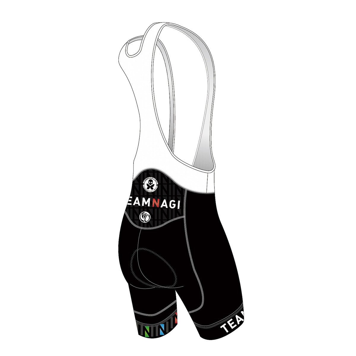 Team Nagi BLACK BRONZE Cycling Bib Shorts